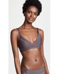 Pilyq - Stitched Ellie Halter Bikini Top - Lyst