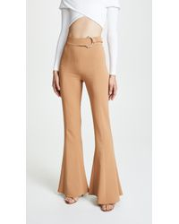 Cushnie et Ochs - High Waist Flares With D-ring Buckle - Lyst