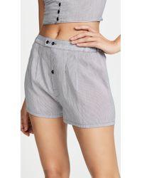 Kiki de Montparnasse - Cotton Stripe Boxer Shorts - Lyst
