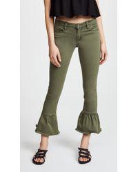 Blank NYC - Skinny Jeans With Ruffle Hem - Lyst