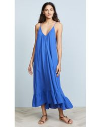 9seed - Paloma Ruffle Maxi Dress - Lyst