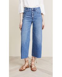 Madewell - Wide-leg Crop Jeans: Button-front Edition - Lyst