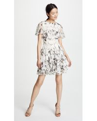 Alice + Olivia - Paola Ruffle Dress - Lyst