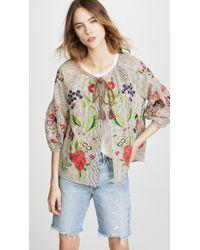 Velvet | Delfina Embroidered Jacket | Lyst