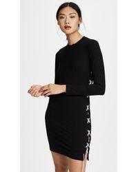 LNA - Ruby Lace Up Dress - Lyst