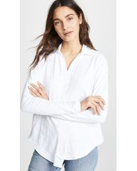 Wilt - Shrunken Collar Shirttail Tee - Lyst