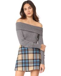 Cupcakes And Cashmere - Roderick Cashmere Off Shoulder Jumper - Lyst