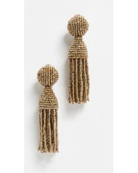 Oscar de la Renta - Classic Short Tassel Earrings - Lyst