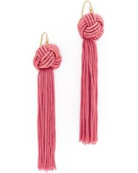 Vanessa Mooney - The Astrid Knotted Tassel Earrings - Lyst