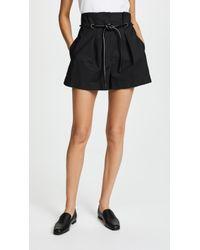 3.1 Phillip Lim - Origami Pleated Shorts - Lyst