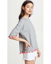 South Parade - Short Sleeve Sweatshirt With Pom Poms - Lyst