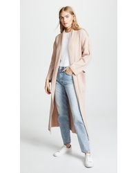 Ryan Roche - Lapel Ribbed Long Cashmere Cardigan - Lyst
