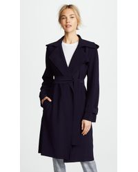 Norma Kamali - Kamali Kulture Double Breasted Trench Coat - Lyst