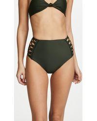 Mikoh Swimwear - Gold Coast High Waisted Bottoms - Lyst