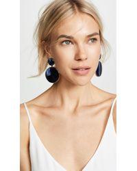 Oscar de la Renta - Bold Resin Mirror Drop Earrings - Lyst