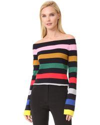 Goen.J | Striped Knit Top | Lyst