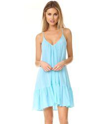 9seed - St. Tropez Ruffle Mini Dress - Lyst