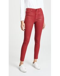 Joe's Jeans - Charlie Coated Skinny Ankle Jeans - Lyst