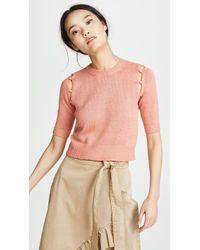 Sonia Rykiel - Cocoon Half Sleeve Sweater - Lyst
