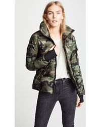 Sam. - Camo Freestyle Short Down Jacket - Lyst