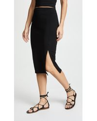 Susana Monaco - High Waist Slit Skirt - Lyst