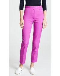 MILLY - High Waisted Skinny Pants - Lyst