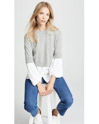 Brochu Walker - Ebele Layered Crew Sweater - Lyst
