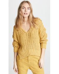 Free People - Infinite V Neck Sweater - Lyst