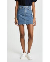 Joe's Jeans - Bella High Rise Jean Skirt - Lyst