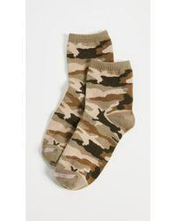 Madewell - Camo Bunny Ankle Mid Socks - Lyst