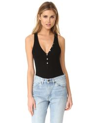 Getting Back to Square One - Button Front Bodysuit - Lyst