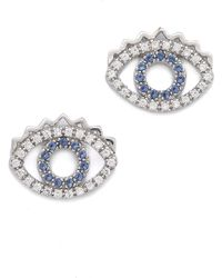 KENZO - Mini Eye Earrings - Lyst