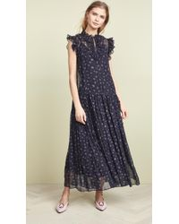 COACH - Rose Print Pleated Dress - Lyst