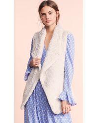 June - Asymmetric Fur Vest - Lyst