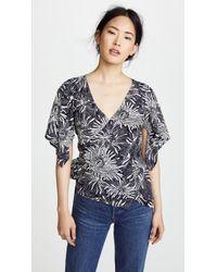 Diane von Furstenberg - Side Wrap Shirt - Lyst