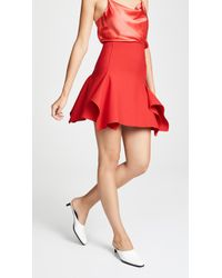 Dion Lee - Double Wool Miniskirt With Box Ruffles - Lyst