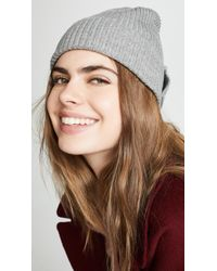 Kate Spade - Solid Bow Beanie Hat - Lyst