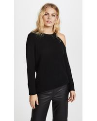 David Lerner | Asymmetrical Cold Shoulder Sweater | Lyst