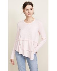 Wilt - Layered Tee With Ribbed Sleeves - Lyst