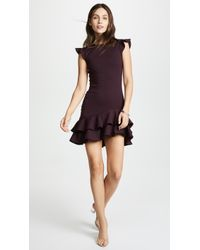 Susana Monaco - Sleeveless Ruffle Hem Dress (bordeaux) Women's Dress - Lyst