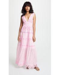 Temptation Positano - Maldive Long V Neck Dress - Lyst