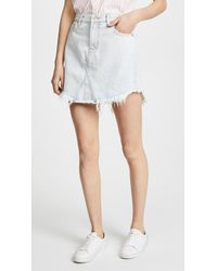 7 For All Mankind - Scallop Frayed Hem Skirt - Lyst