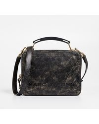 Marc Jacobs - Black Distressed Leather Box Bag - Lyst