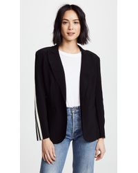 Norma Kamali - Side Stripe Single Breasted Jacket - Lyst