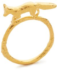 Alex Monroe - Prowling Fox Ring - Lyst