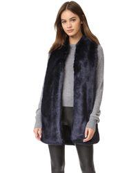 Amanda Uprichard - Faux Fur Vest - Lyst