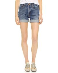 Ayr - 'the 5 Pocket' Roll Cuff Denim Shorts - Lyst