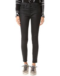Blank - Coated Button Up Jeans - Lyst
