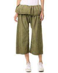 Basic Terrain - Eden Cropped Trousers - Lyst