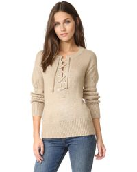 Capulet - Brighton Henley Lace Up Sweater - Lyst